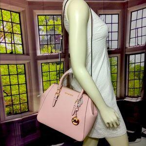 NWT Michael Kors Charlotte large Satchel Handbag